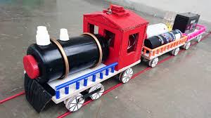 How To Make A Toy Box Easy by How To Make An Electric Train At Home Youtube