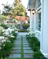 image of house landscaping ideas for narrow side of house landscape ideas for side