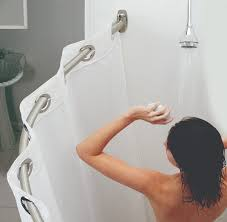 shower curtain rods rods and curtains on pinterest curved image shower curtain rods curtain rods and shower curtains on pinterest curtain curved curtain rods image