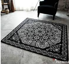 Modern Black Rugs Paysota Modern Black And White Carpet Door Square Sofa Living Room