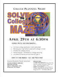 april 29th college planning and financial aid night shadle