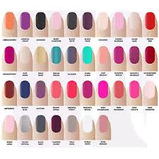 gellux gel nail polish varnish colours led by salon system all