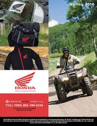 american honda motor co inc honda powersports 2016 spring apparel and accessory catalog by