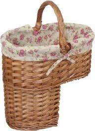 antique wash finished stair basket stair basket