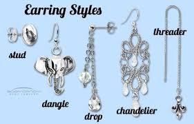earring styles jewelry in depth pierced earring styles jewellery