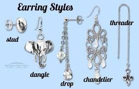 earing styles jewelry in depth pierced earring styles jewellery