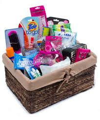 college gift baskets bathroom kit list going away to college gift basket