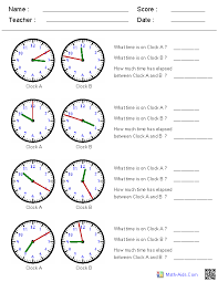 great worksheets for time all different levels of difficulty and