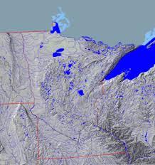 minnesota topographic map geography of minnesota