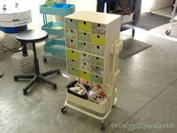 diy rolling organizer craft cart hybrid ikea fira boxes and