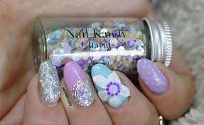 polishedblissfully 3d floral gel design diy nail charms