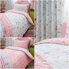 Unicorn Bed Set Magical Unicorns Fairies Rainbow Reversible Duvet Cover Bed