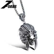 skull link necklace images Cool indian skull man pendant necklaces domineering box chain punk jpg