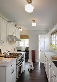 blue galley kitchen cottage kitchen arent u0026 pyke