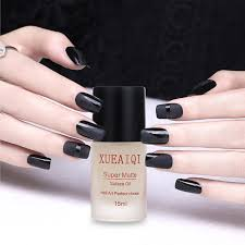 transfiguration matte top coat nail polish frosted surface oil