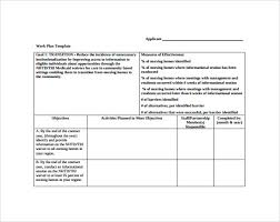 sample work plan templates to download