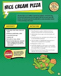 totally tubular ninja turtles inspired ice cream pizza exclusive