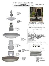 l with water fountain base caterina outdoor water fountain in basin