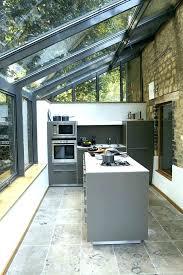 cuisine veranda photos extension cuisine veranda beautiful extension maison bois moderne