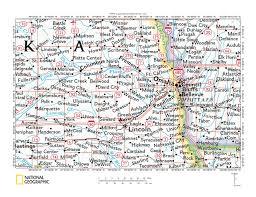 Map Of Counties In Nebraska Platte River Salt Creek Drainage Divide Area Landform Origins In