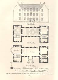 19th Century Floor Plans Bannockburn House Stirlingshire
