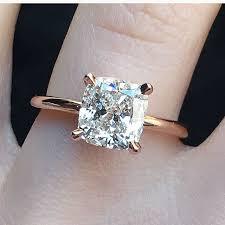 gold engagement rings cushion cut best 25 solitaire cushion cut ideas on cushion cut