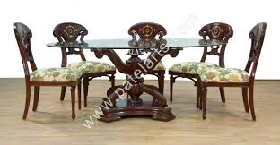 Duncan Phyfe Rose Back Chairs by Dining Rooms Stupendous Wood Carved Dining Room Chairs Set Of