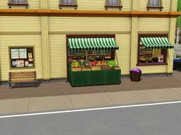 Sims 3 Awning Image Everfresh Delights Supermarket Right Jpg The Sims Wiki