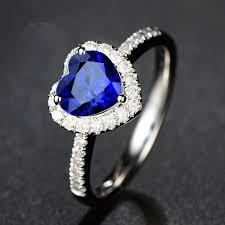 best stone rings images Best full diamond fashion blue stone 925 silver ring brand new jpg