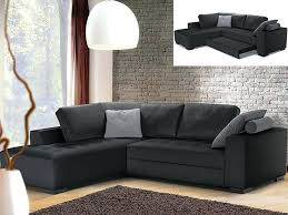 coussin canap d angle canape d angle convertible cuir noir lit canapac blanc couchage 140