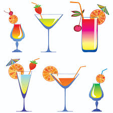 cocktail cartoon cartoon high glass and juice 01 vector free vector 4vector