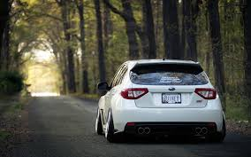 sti subaru white images subaru impreza wrx sti white roads forests back view