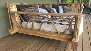 rustic porch swing bed dudeiwantthat com
