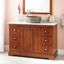 48 reni vessel sink vanity light cherry bathroom