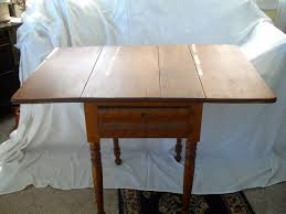 Maple Drop Leaf Table Tiger Maple Drop Leaf Side Table Antiques Michigan