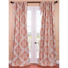 Pink And Orange Curtains Rugs Curtains White Pink Moroccan Blackout 108 Inch Curtains