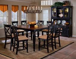 black and wood dining table knockout american dining room with on display pub tables at arkansas