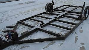 fish house frame one winch youtube