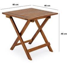 fabriquer une table pliante table basse pliante en bois tables jardin d u0027appoint 46x46cm