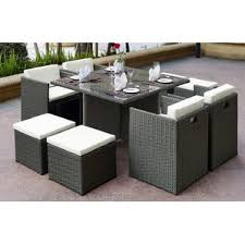 Patio Furniture Set Eight Person Patio Dining Sets You U0027ll Love Wayfair
