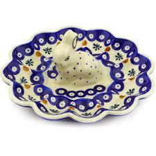 egg plate pottery 9 inch egg plate boleslawiec stoneware polmedia h5901f