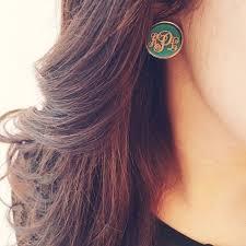 Monogrammed Earrings Více Než 20 Nejlepších Nápadů Na Téma Monogram Earrings Na
