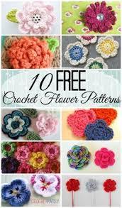 Free Pattern For Crochet Flower - top 10 free crochet flower patterns free crochet flower patterns