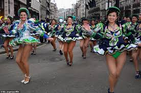 london turns green for st patrick u0027s day parade daily mail online