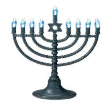 jewish gifts electric menorah gray led menorah with blue bulbs