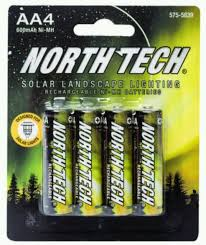 rechargeable aa batteries for solar lights 16 north tech aa rechargeable solar light batteries 600mah nimh same