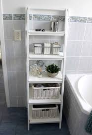 ideas for storage in small bathrooms bathroom vintage white wood standing small bathroom shelf grey
