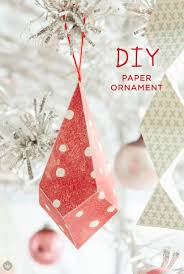 paper ornaments simple and cheap tree decorations