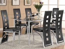 Rectangle Glass Dining Room Table Coaster Los Feliz Rectangular Glass Dining Set Black