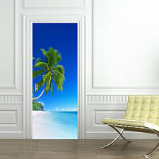 tropical beach door wrap decal wall sticker wall mural tropical beach door wrap decal wall sticker wall mural personalized any name d09